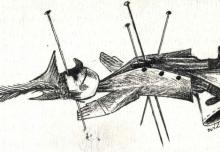 11. Rysunek Jana Wilkowskiego, 1983