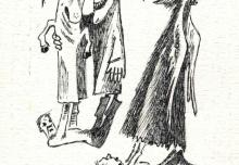 7. Rysunek Jana Wilkowskiego, 1983