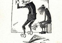 8. Rysunek Jana Wilkowskiego, 1983