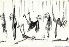 9. Rysunek Jana Wilkowskiego, 1983